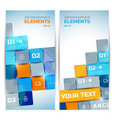 business infographic elements vertical banners vector image