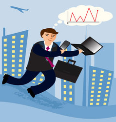 business-men-2 vector image vector image