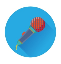 Celebration karaoke microphone icon vector