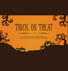 Collection stock halloween with pumpkin vector