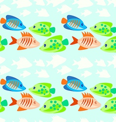 colored fish seamless pattern vector image vector image