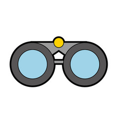 cute grey binoculars cartoon vector image
