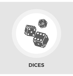 Dices flat icon vector