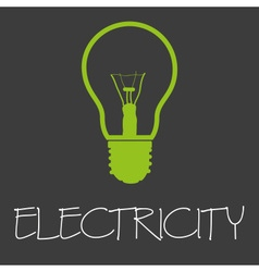 Electricity text and light bulb symbol eps10 vector