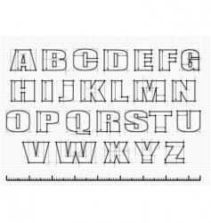 Engineering alphabet vector