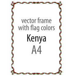 Flag v14 kenya vector