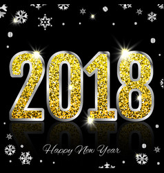 gold 2018 3d vector image vector image