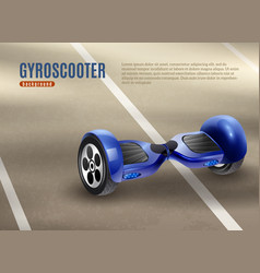 Gyro scooter segway road background poster vector