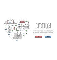 i love london poster in linear style vector image vector image
