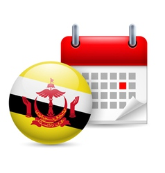 Icon of National Day in Brunei vector image vector image