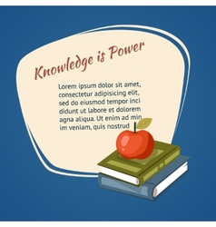 Knowledge is power poster vector