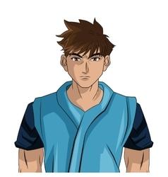 man boy anime comic design vector image vector image