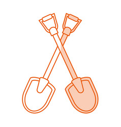 monocromatic shovels design vector image