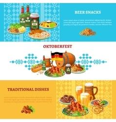 Oktoberfest Flat Horizontal Banners Set vector image vector image