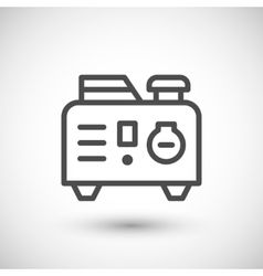 Portable electric generator line icon vector