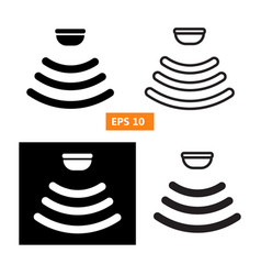 set of sensor waves signal icon vector image