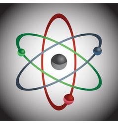 simple color atom model eps10 vector image vector image