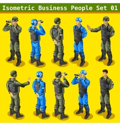 Soldier 01 People Isometric vector image vector image