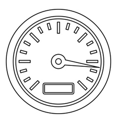 Speedometer or gauge icon outline style vector image