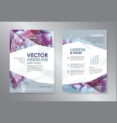 template polygon abstract design magazine vector image vector image