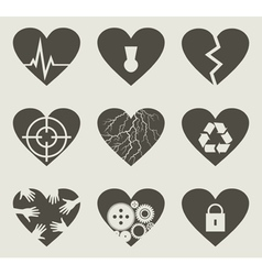 Collection heart vector image