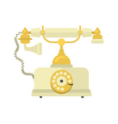 Telephone vintage icon vector