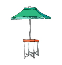 A parasol is placed vector
