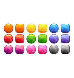 Cartoon colorful buttons set vector