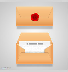 open and closed letter vector image