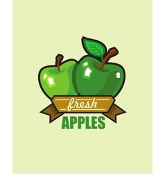 Fresh apple vector