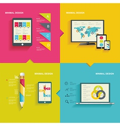 Modern infographic or webdesign concept vector