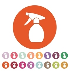 The sprayer icon atomizer symbol flat vector