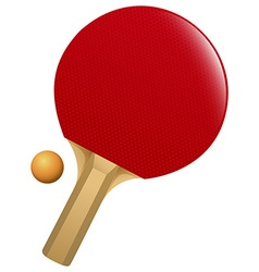 Table tennis bat and ball vector