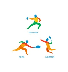 Table tennis badminton icon vector