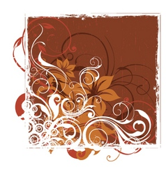 Urban floral background vector