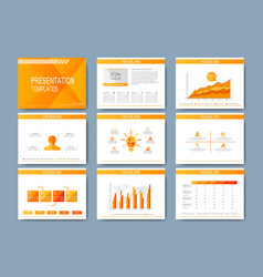 Set of template for presentation slides vector