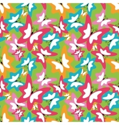 Summer seamless pattern with butterfly vector