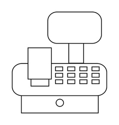 Cash register in store icon outline style vector