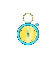Blue stopwatch icon cartoon style vector