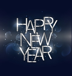 Amazing happy new year background with silver vector