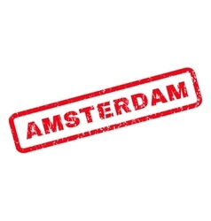 Amsterdam Rubber Stamp vector image vector image