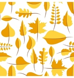 Autumn yellow withered leaves seamless pattern vector