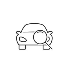 Car diagnostic line icon vector