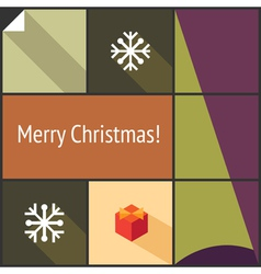 Christmas flat interface vector image vector image