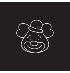 Clown sketch icon vector image vector image