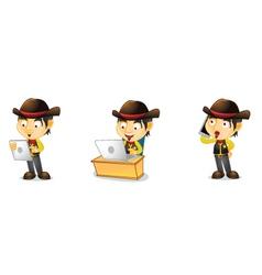 Cowboy 3 vector image vector image