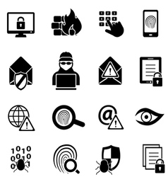 Cybersecurity icons vector image vector image