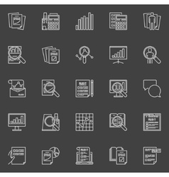 Financial audit line icons vector image