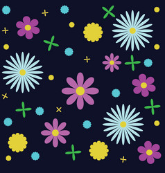 Floral pattern manufactory background vector
