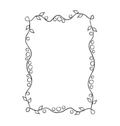 frame with floral ornament isolated vector image